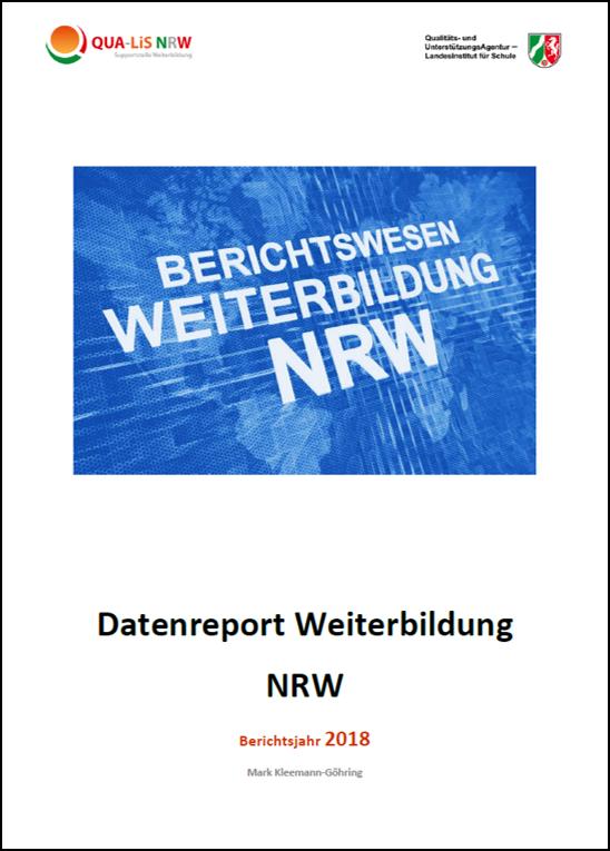 Datenreport Weiterbildung NRW - Berichtsjahr 2018