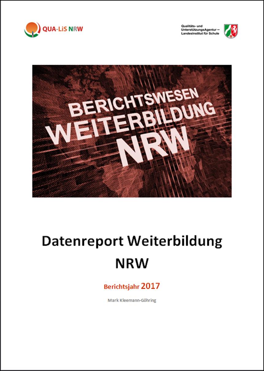 Datenreport Weiterbildung NRW - Berichtsjahr 2017