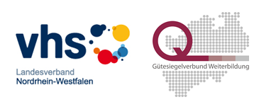 Logos: LV VHS NRW, Gütesiegelverbund Weiterbildung